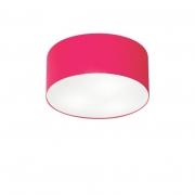 Plafon Para Sala de TV Cilíndrico TV-3010 Cúpula Cor Rosa Pink
