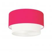 Plafon Para Sala de TV Cilíndrico TV-3045 Cúpula Cor Rosa Pink Branco