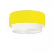 Plafon Para Sala de TV Cilíndrico TV-3062 Cúpula Cor Amarelo Branco