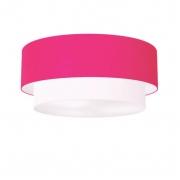 Plafon Para Sala de TV Cilíndrico TV-3065 Cúpula Cor Rosa Pink Branco