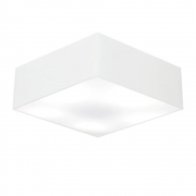 Plafon Quadrado Md-3002 Cúpula em Tecido 15/50x50cm Branco - Bivolt