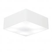 Plafon Quadrado Md-3051 Cúpula em Tecido 15/45x45cm Branco - Bivolt