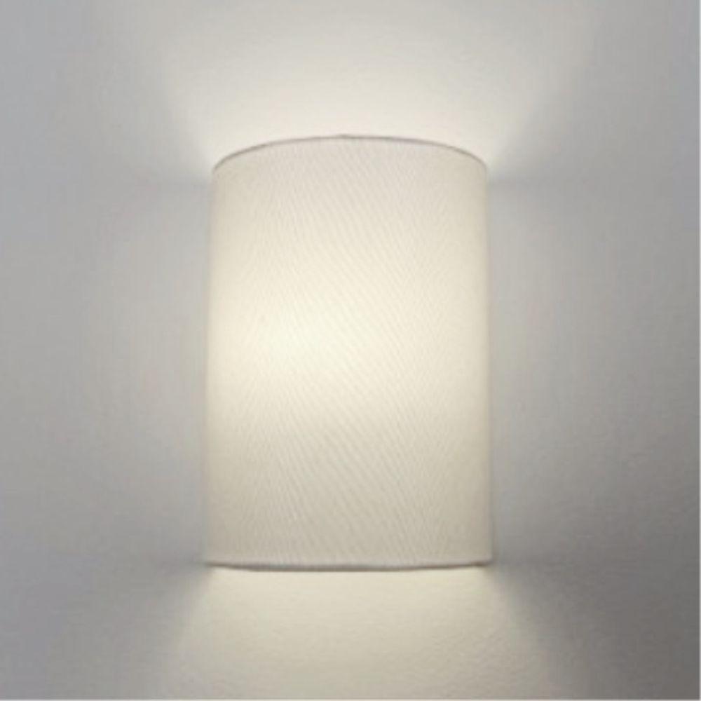 Arandela Meia Cana Retro Md-2003 Cúpula em Tecido 25/18x10cm Branco - Bivolt
