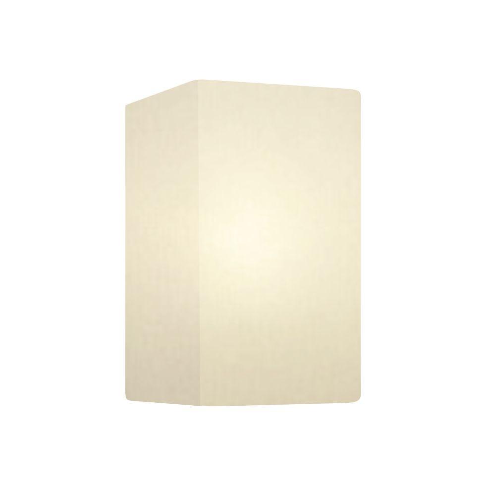 Arandela Retangular Retro Md-2002 Cúpula em Tecido 25/16x10cm Branco - Bivolt