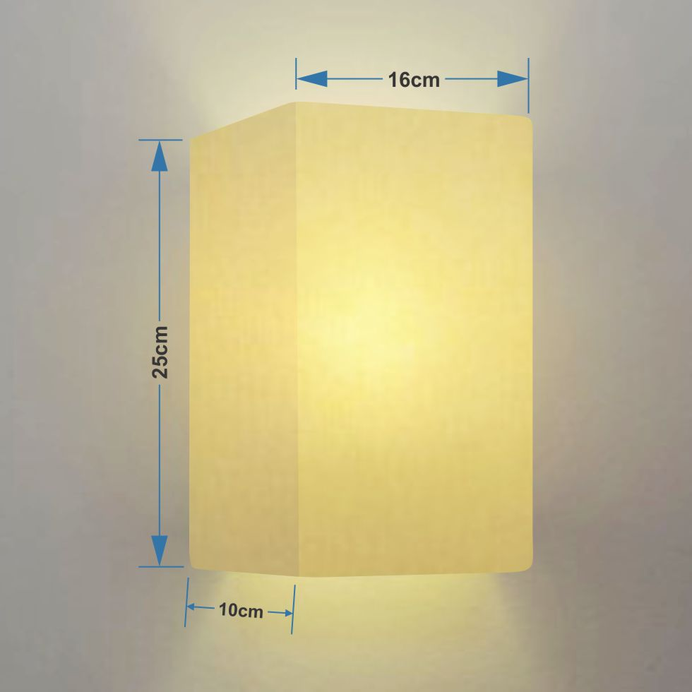 Arandela Retangular Retro Md-2002 Cúpula Tecido 25/16x10cm Algodão Crú