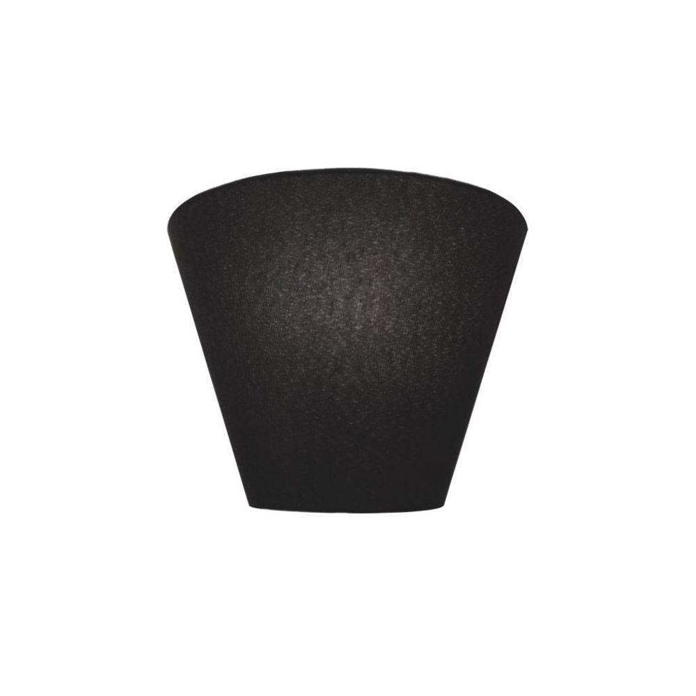 Arandela Retro Cone Md-2001 Cúpula em Tecido 25/26x13cm Preto - Bivolt