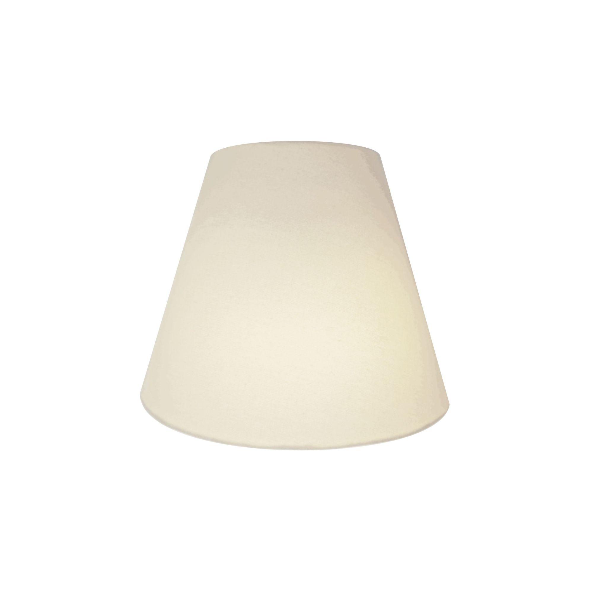 Arandela Retro Cone Md-2001 Cúpula em Tecido 25/26x13cm Branco - Bivolt