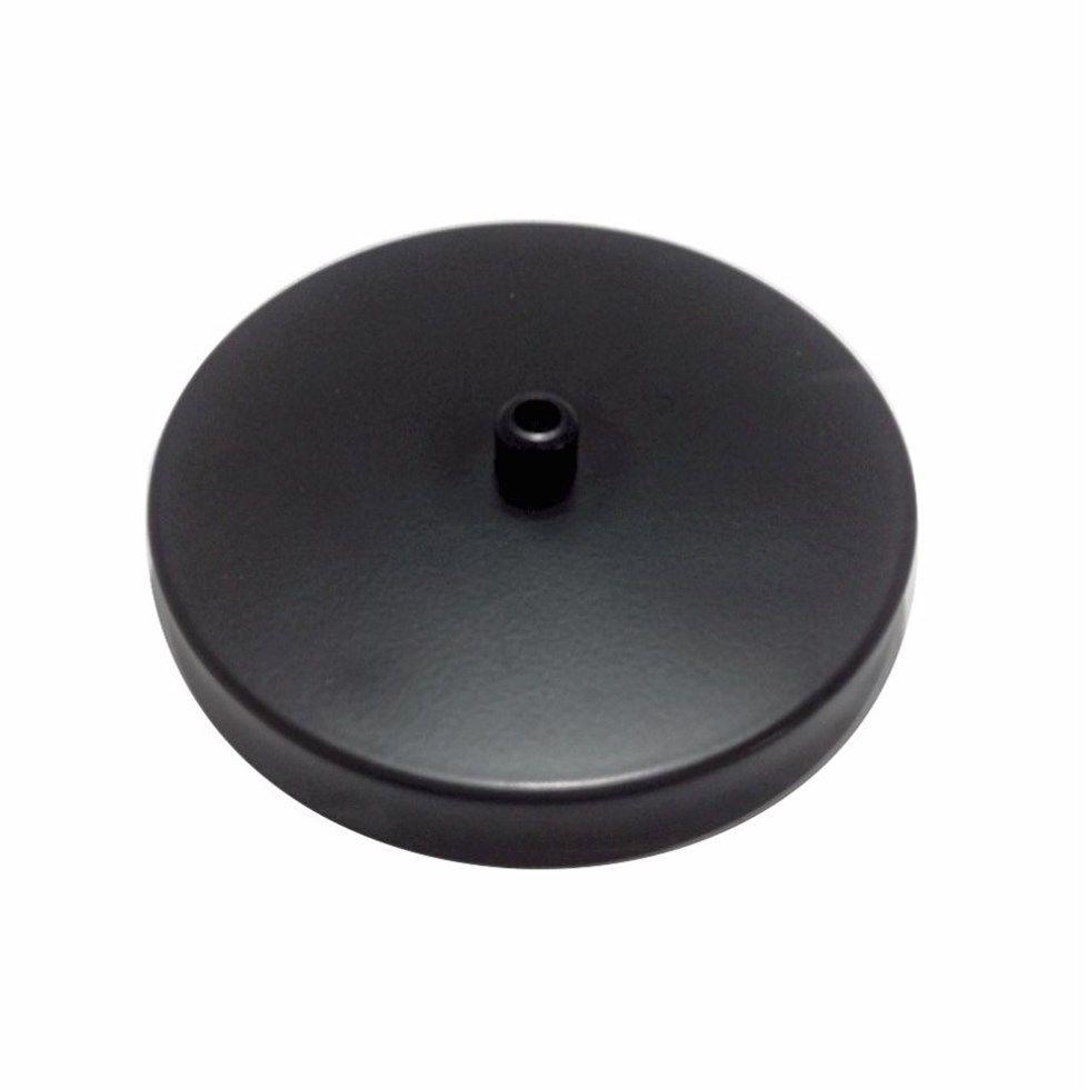 Canopla Lustre Pendente Cilíndrica Vivare Md-1004 11x1,2cm Preto