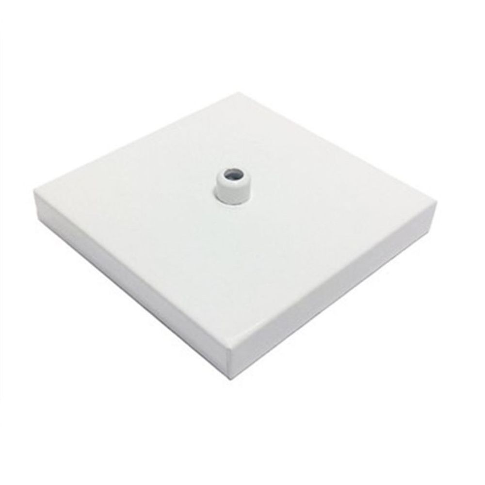 Canopla Lustre Pendente Quadrado Md-1005 12x12x2cm Branco