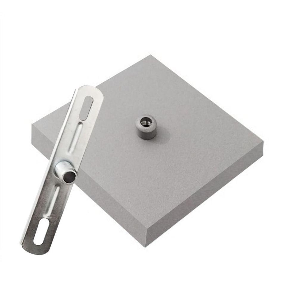Canopla Lustre Pendente Quadrado Md-1005 12x12x2cm Cinza