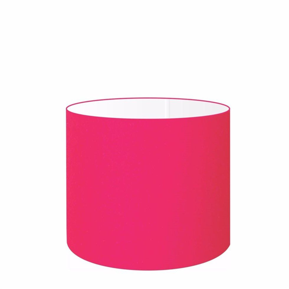 Cúpula Abajur Cilíndrica Cp-7012 Ø30x25cm Rosa Pink