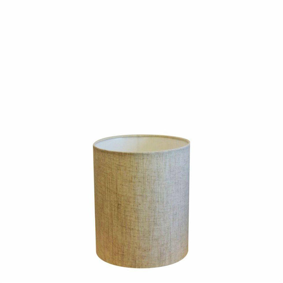 Cúpula Abajur Cilíndrica Cp-8001 Ø13x15cm Rustico Bege