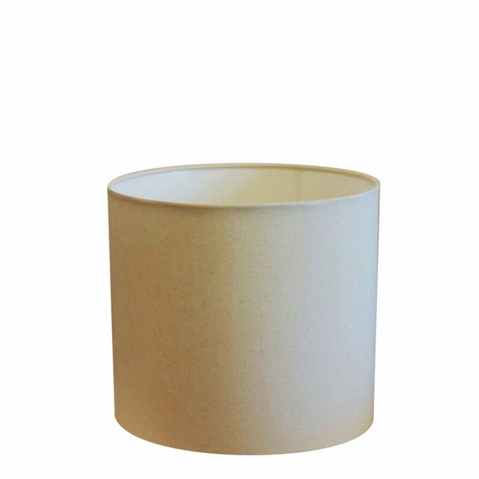 Cúpula Abajur e Luminária em Tecido Cilíndrica Vivare Cp-7013 Ø30x30cm - Bocal Nacional