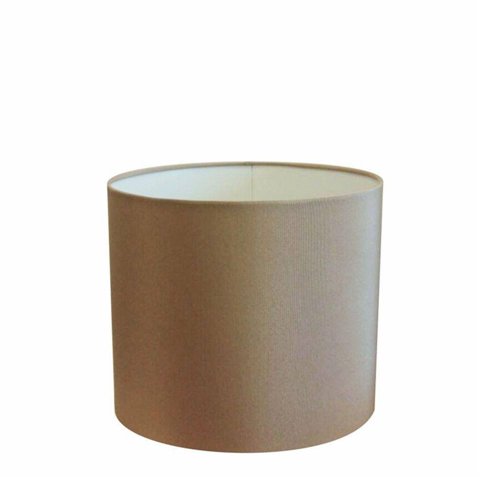 Cúpula Abajur e Luminaria em Tecido Cilíndrica Vivare Cp-8015 Ø35x25cm - Bocal Europeu