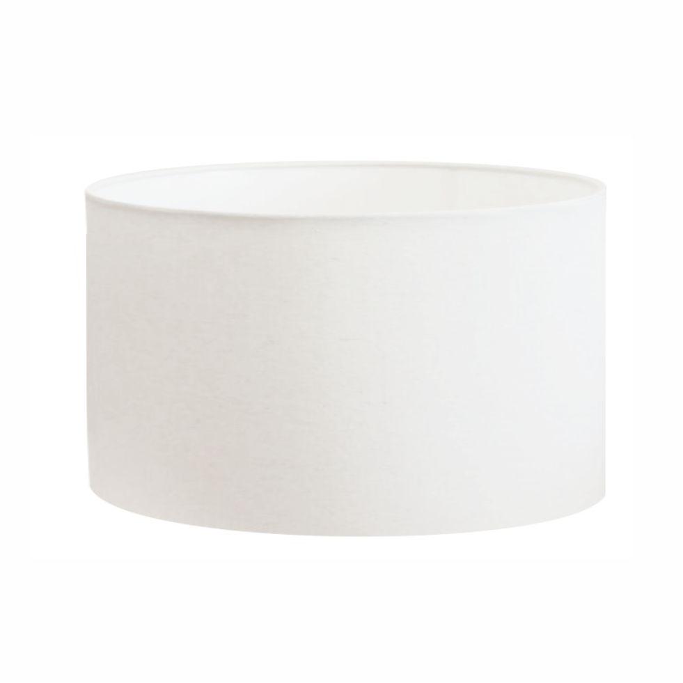 Cúpula Abajur e Luminaria em Tecido Cilíndrica Vivare Cp-8023 Ø50x21cm - Bocal Europeu