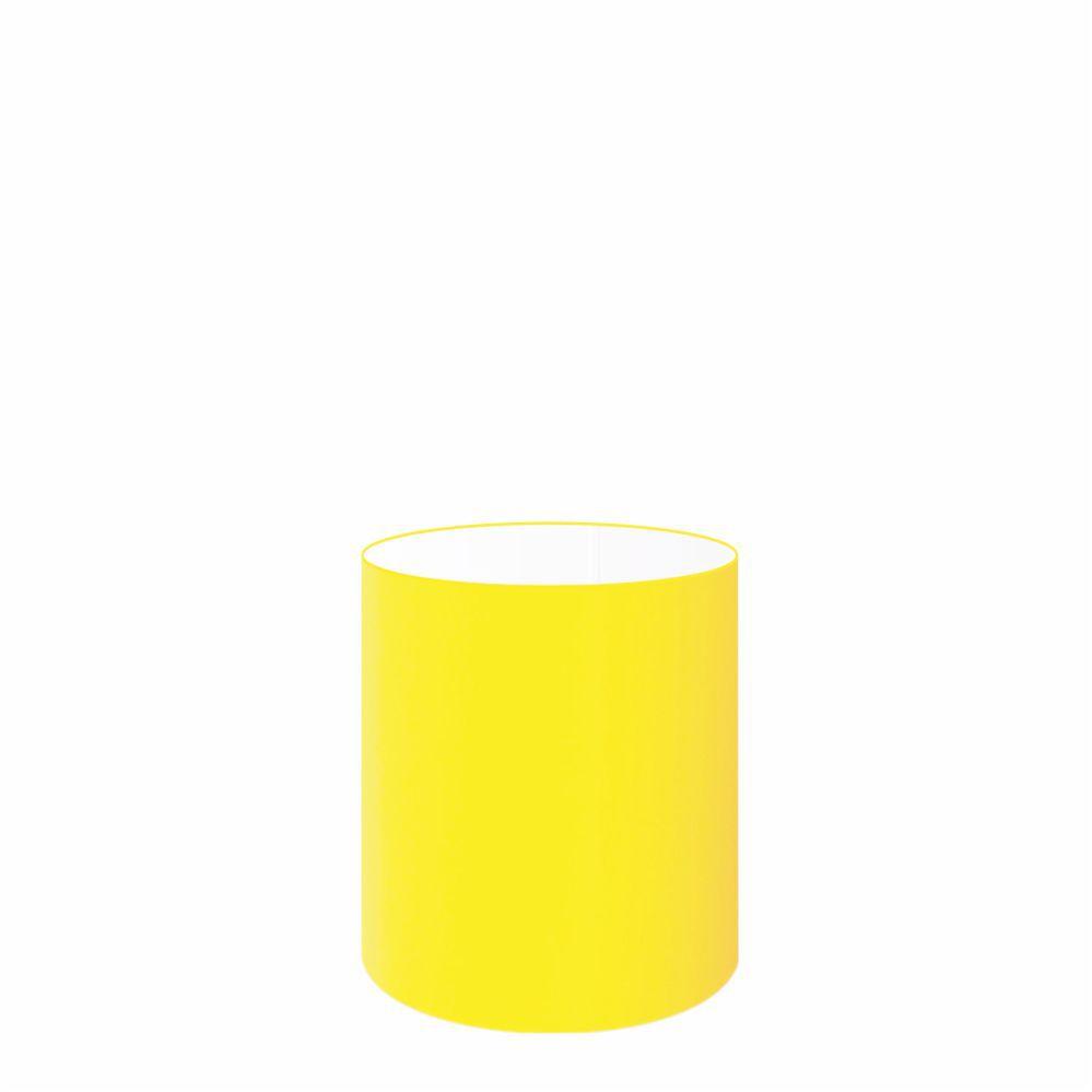 Cúpula em Tecido Cilindrica Abajur Luminária Cp-2009 13x15cm Amarelo