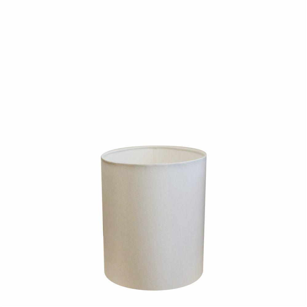 Cúpula em Tecido Cilindrica Abajur Luminária Cp-2009 13x15cm Branco