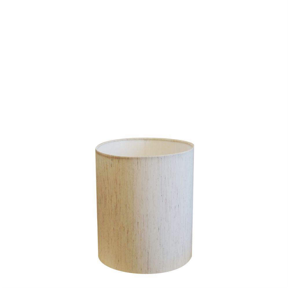 Cúpula em Tecido Cilindrica Abajur Luminária Cp-2009 13x15cm Linho Bege