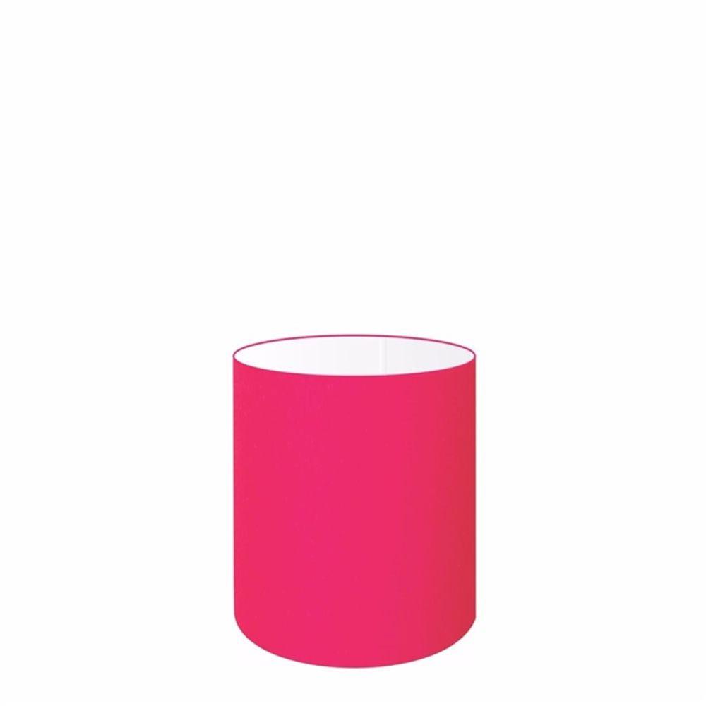 Cúpula em Tecido Cilindrica Abajur Luminária Cp-2009 13x15cm Rosa Pink