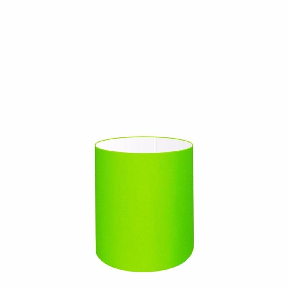 Cúpula em Tecido Cilindrica Abajur Luminária Cp-2009 13x15cm Verde Limão