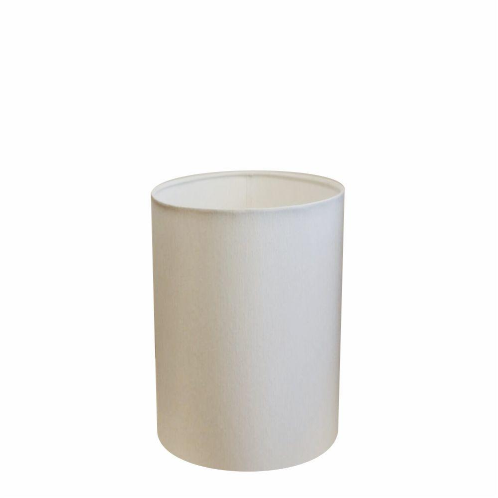 Cúpula em Tecido Cilindrica Abajur Luminária Cp-4012 18x25cm Branco