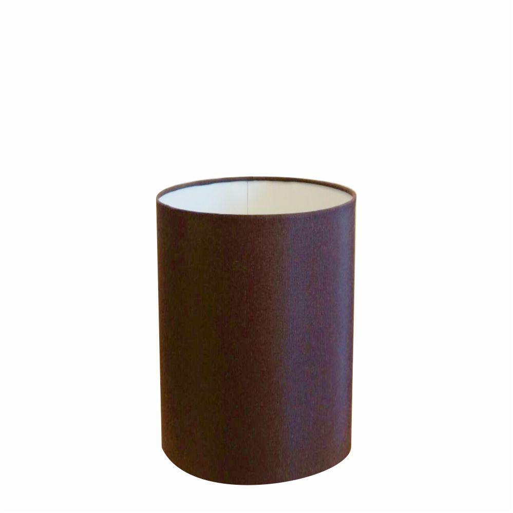 Cúpula em Tecido Cilindrica Abajur Luminária Cp-4012 18x25cm Café