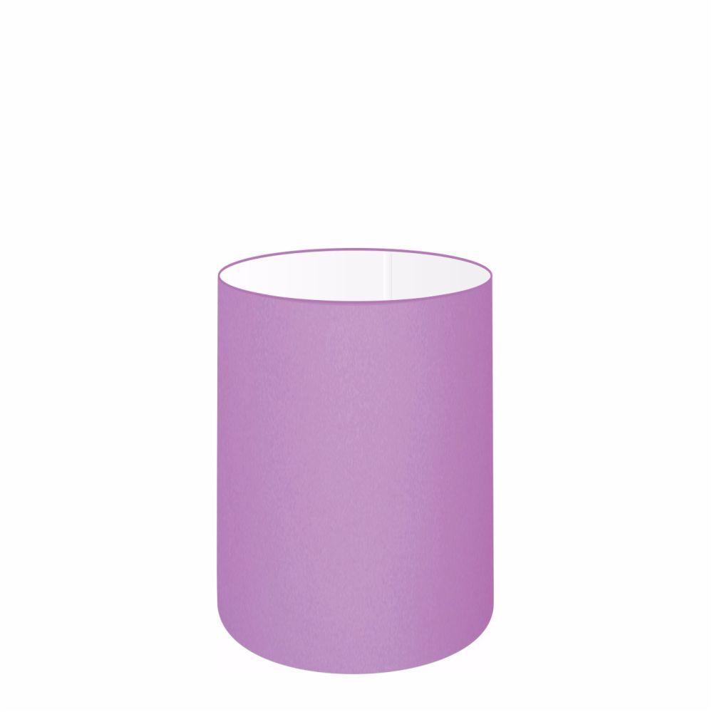 Cúpula em Tecido Cilindrica Abajur Luminária Cp-4012 18x25cm Lilás