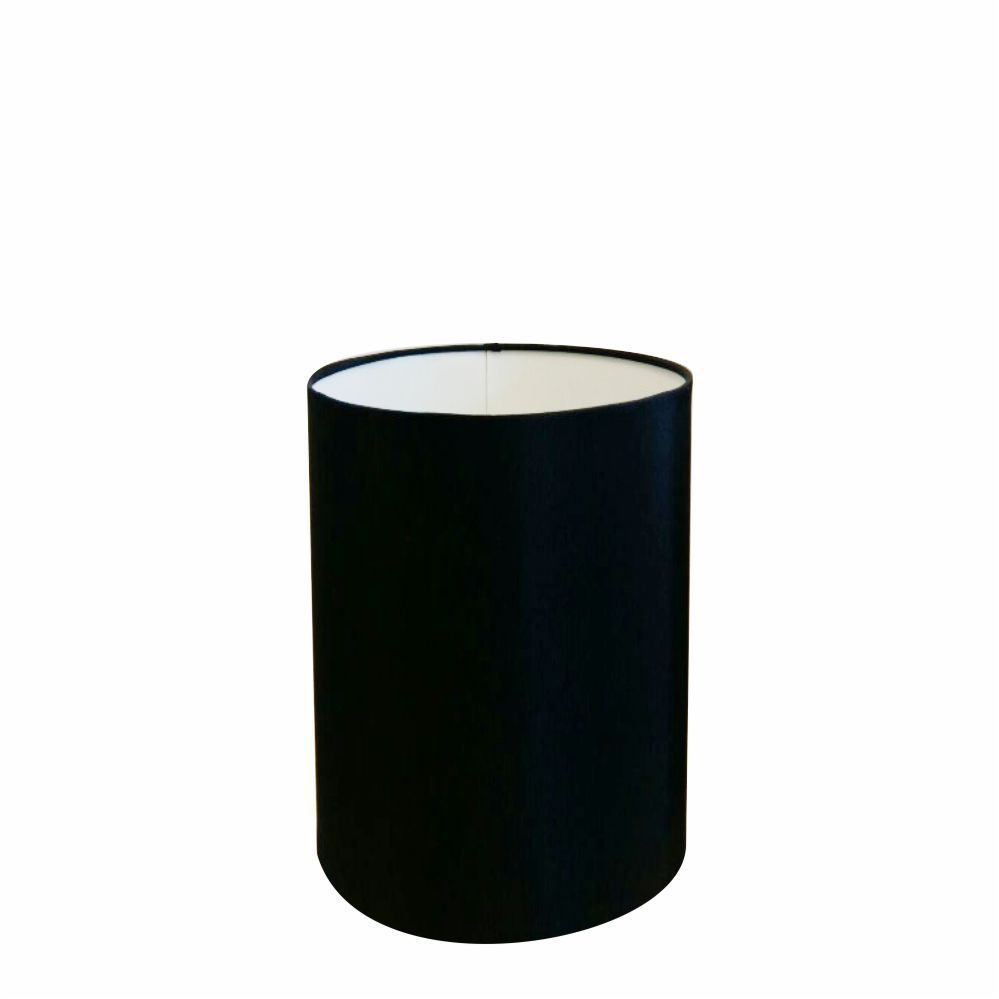 Cúpula em Tecido Cilindrica Abajur Luminária Cp-4012 18x25cm Preto