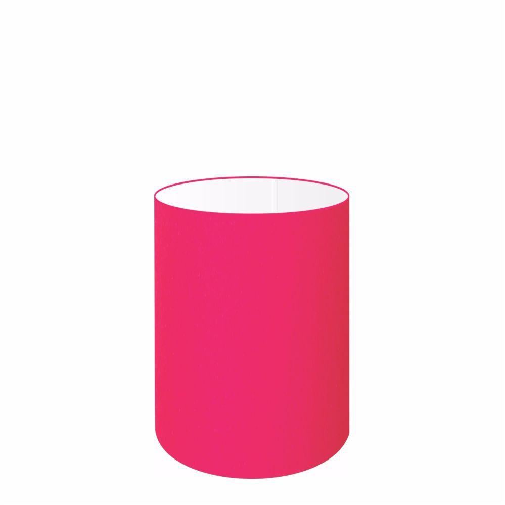 Cúpula em Tecido Cilindrica Abajur Luminária Cp-4012 18x25cm Rosa Pink