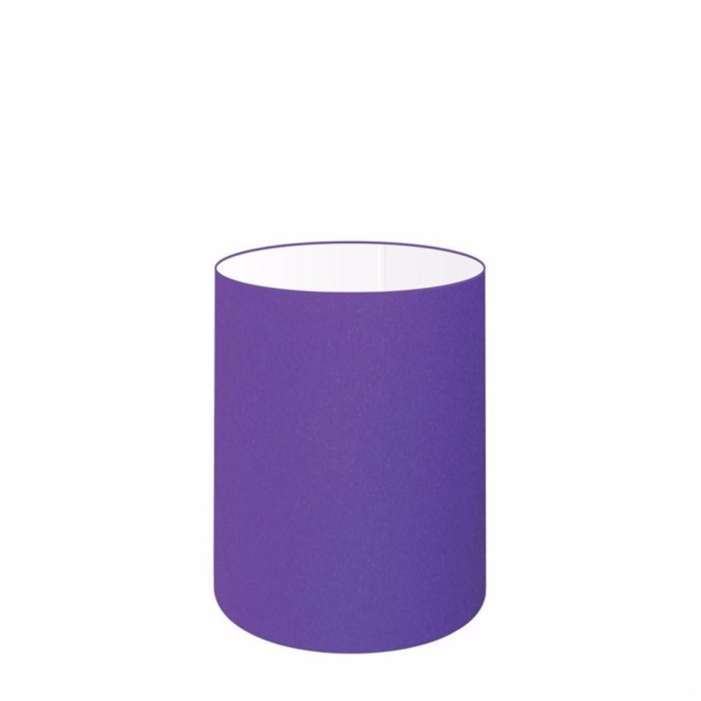 Cúpula em Tecido Cilindrica Abajur Luminária Cp-4012 18x25cm Roxo