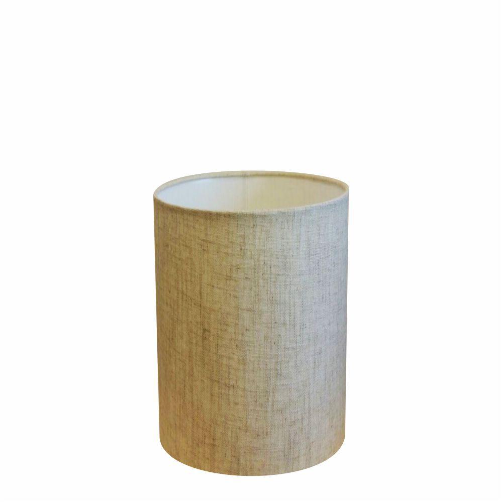 Cúpula em Tecido Cilindrica Abajur Luminária Cp-4012 18x25cm Rustico Bege