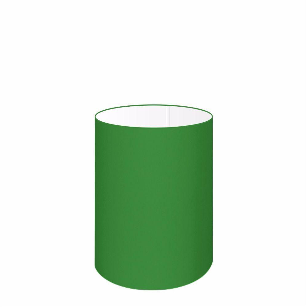 Cúpula em Tecido Cilindrica Abajur Luminária Cp-4012 18x25cm Verde Folha
