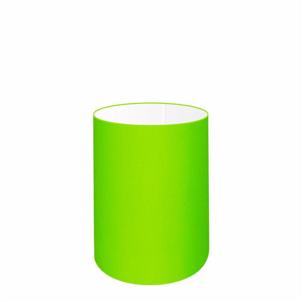 Cúpula em Tecido Cilindrica Abajur Luminária Cp-4012 18x25cm Verde Limão