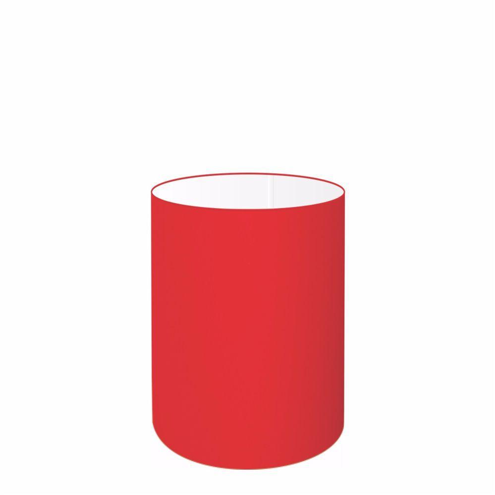 Cúpula em Tecido Cilindrica Abajur Luminária Cp-4012 18x25cm Vermelho