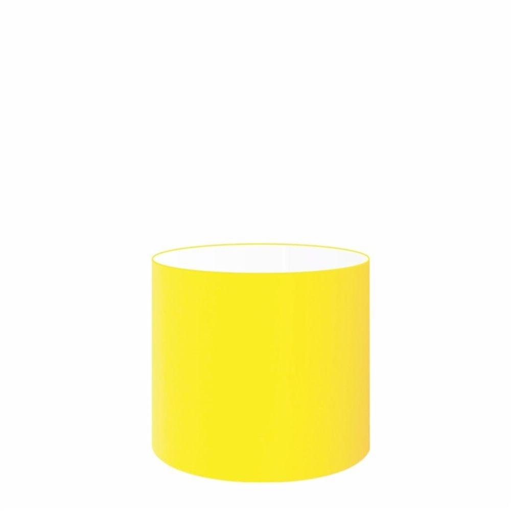 Cúpula em Tecido Cilindrica Abajur Luminária Cp-4046 18x18cm Amarelo