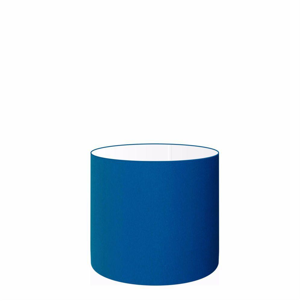 Cúpula em Tecido Cilindrica Abajur Luminária Cp-4046 18x18cm Azul Marinho