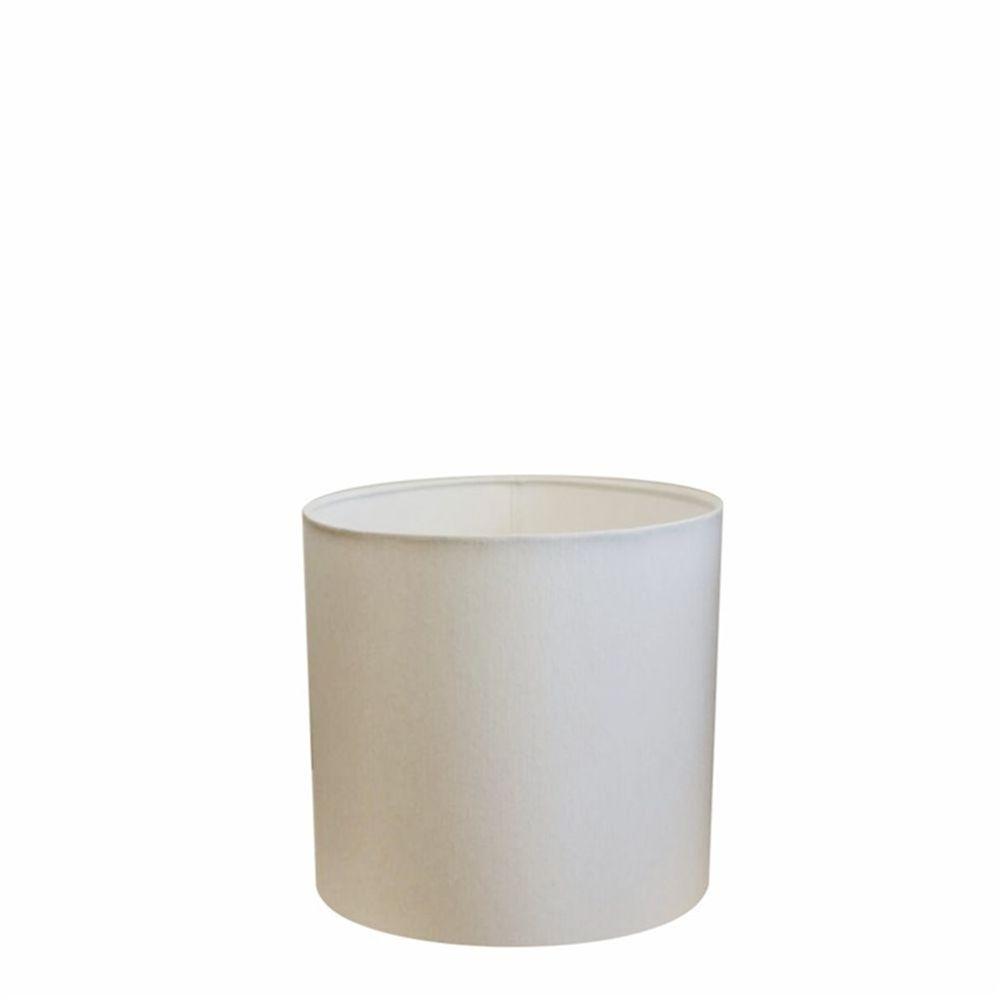 Cúpula em Tecido Cilindrica Abajur Luminária Cp-4046 18x18cm Branco