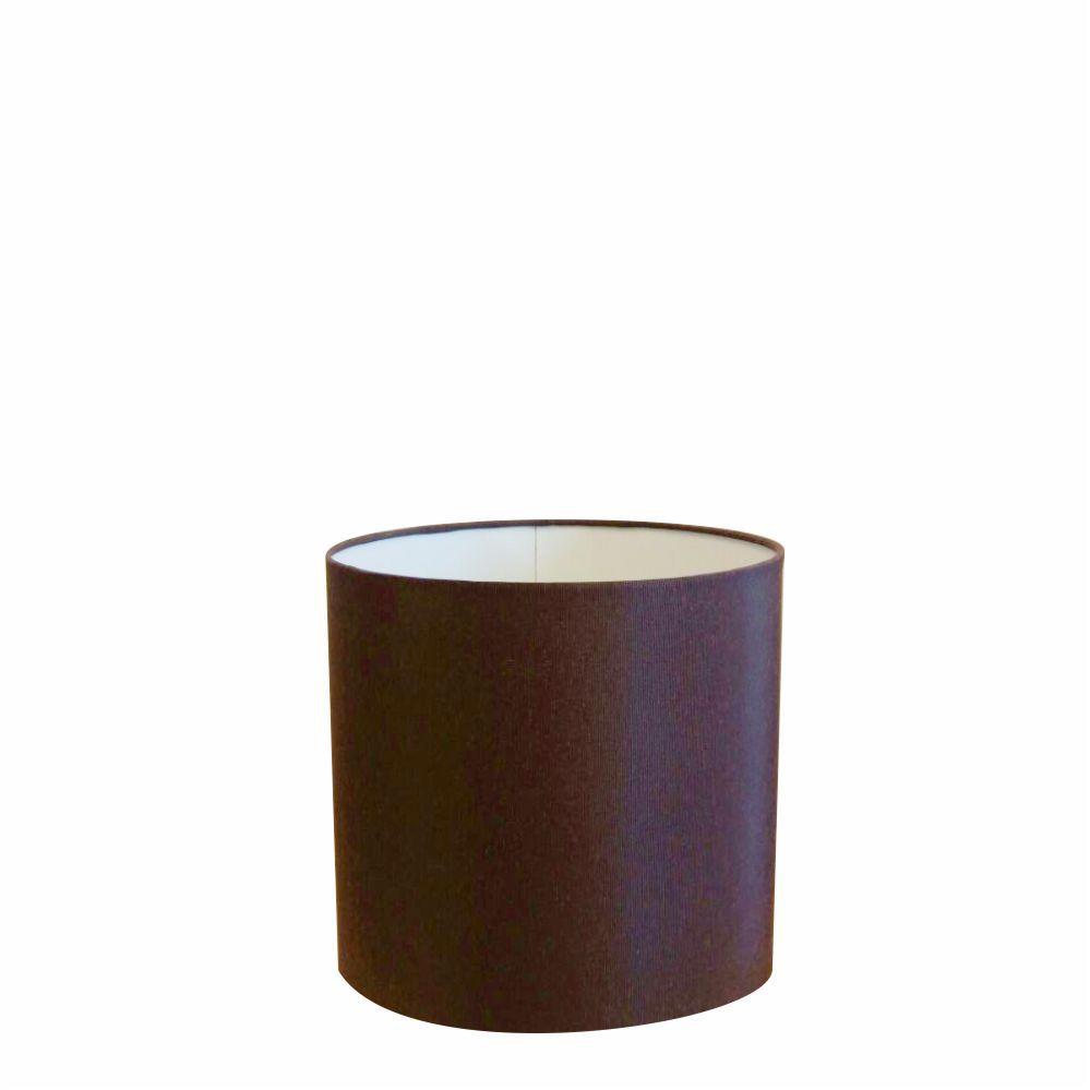 Cúpula em Tecido Cilindrica Abajur Luminária Cp-4046 18x18cm Café