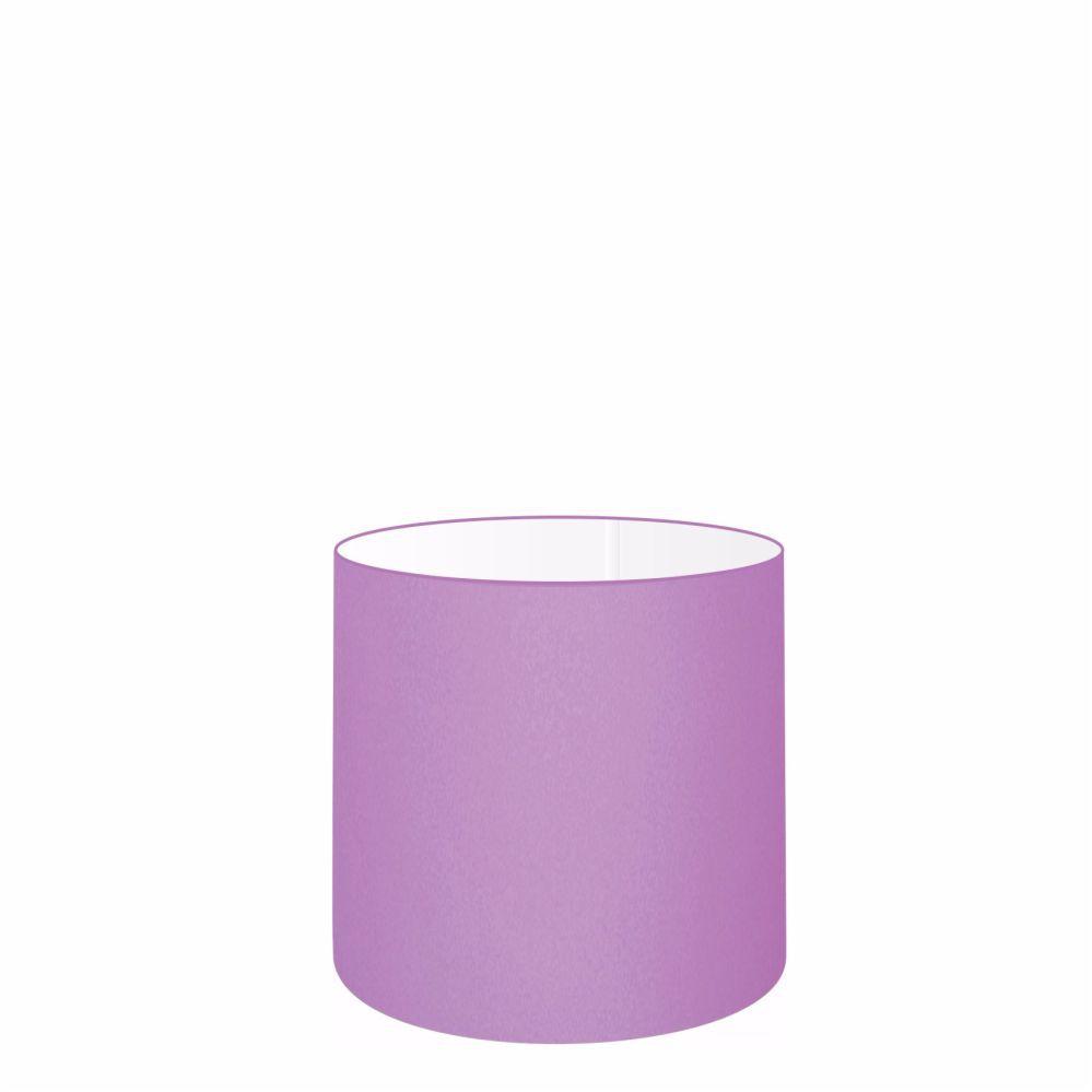 Cúpula em Tecido Cilindrica Abajur Luminária Cp-4046 18x18cm Lilás