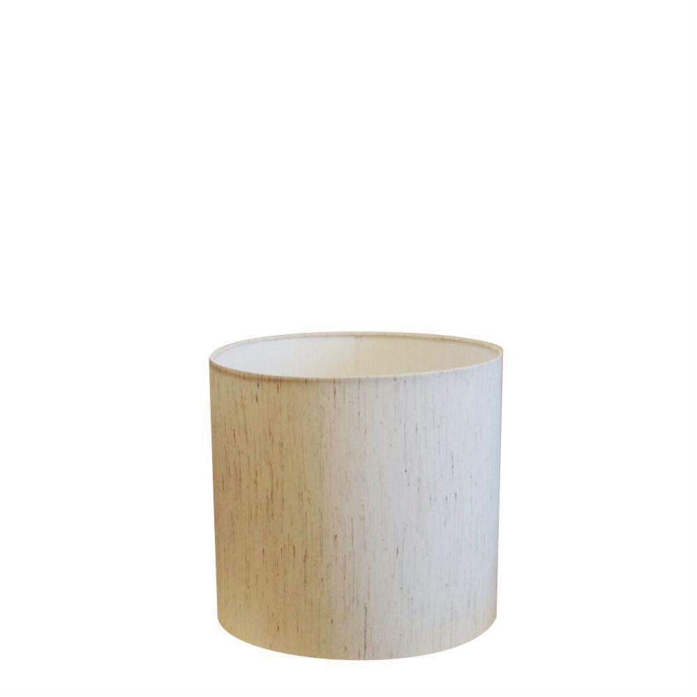 Cúpula em Tecido Cilindrica Abajur Luminária Cp-4046 18x18cm Linho Bege
