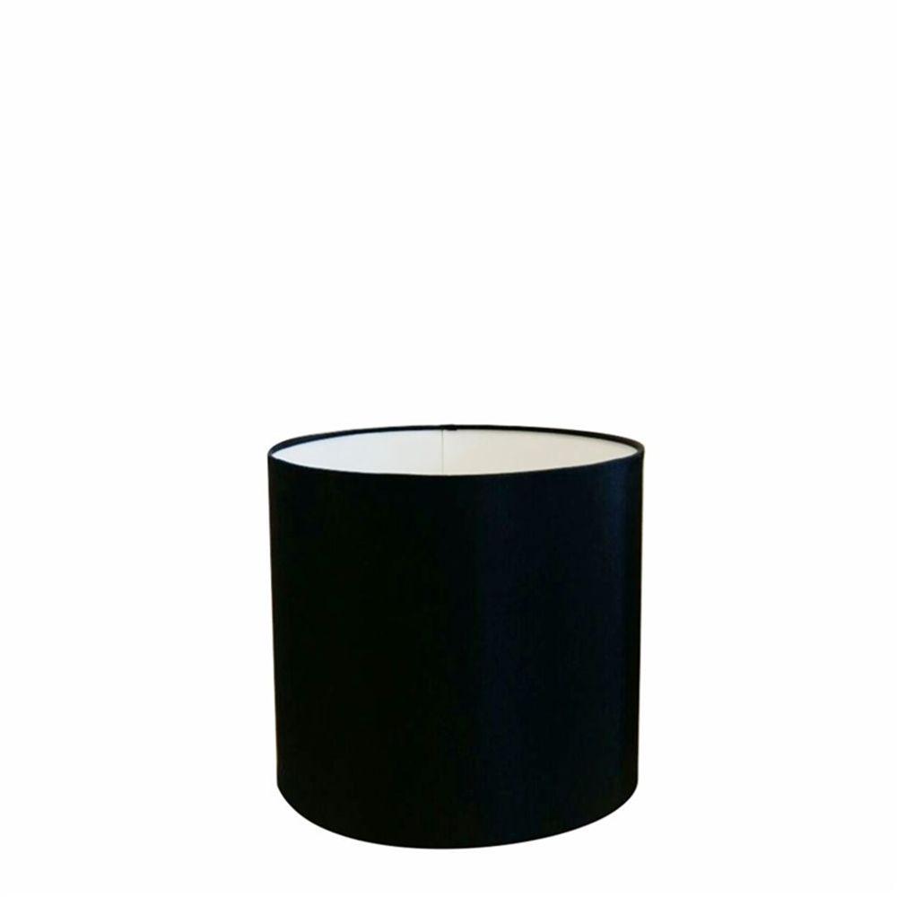 Cúpula em Tecido Cilindrica Abajur Luminária Cp-4046 18x18cm Preto