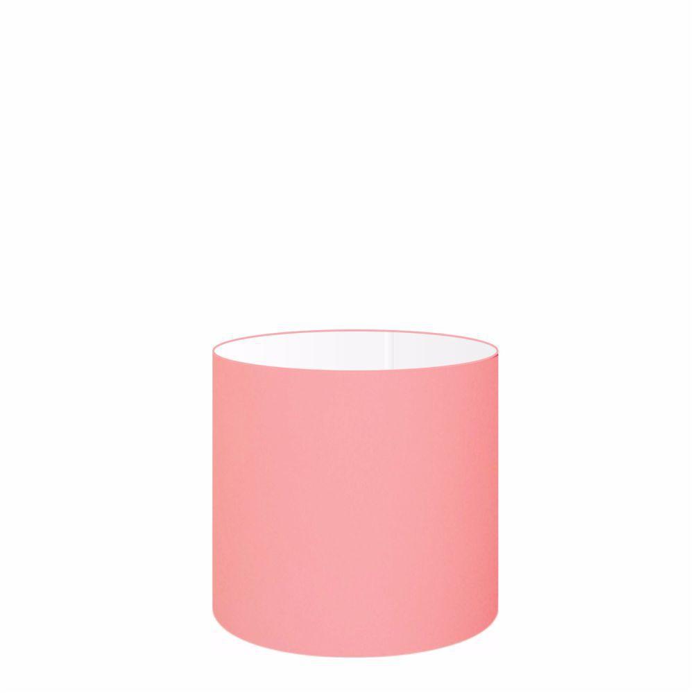 Cúpula em Tecido Cilindrica Abajur Luminária Cp-4046 18x18cm Rosa Bebê