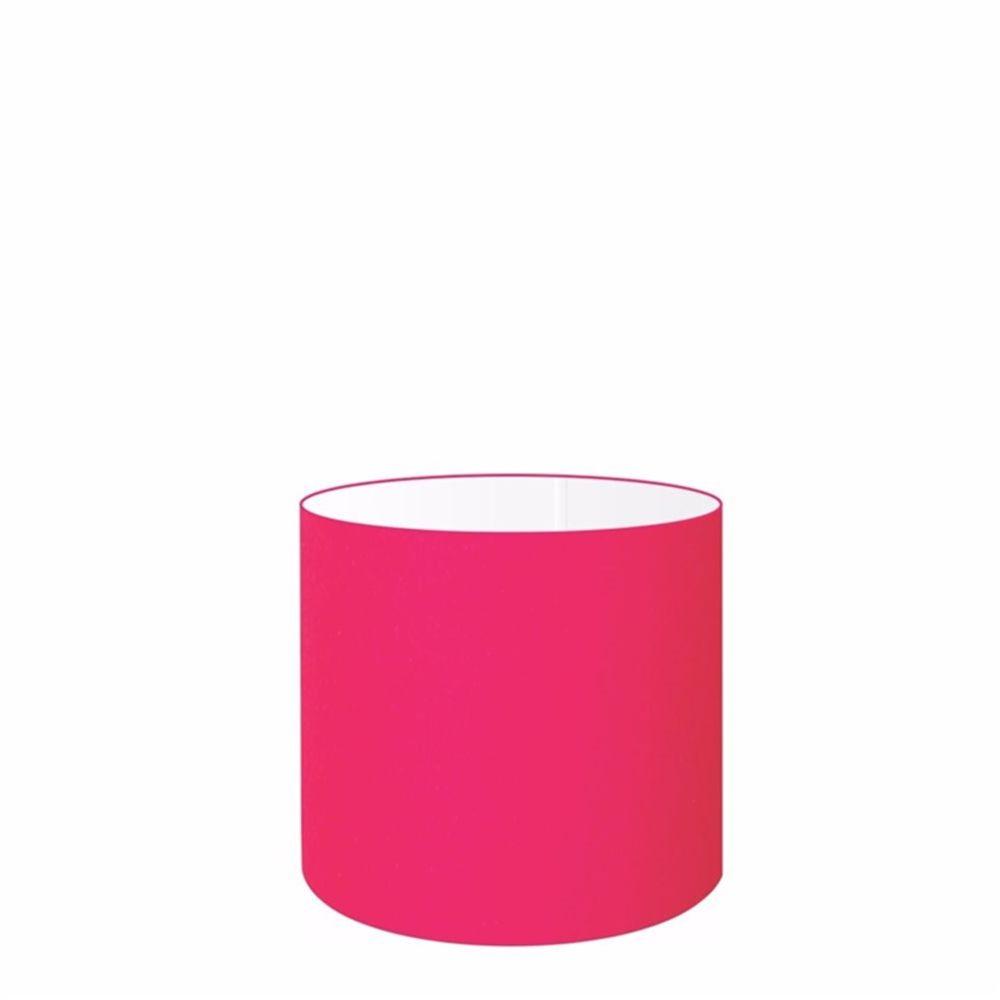 Cúpula em Tecido Cilindrica Abajur Luminária Cp-4046 18x18cm Rosa Pink