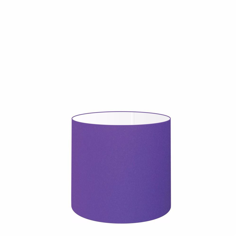Cúpula em Tecido Cilindrica Abajur Luminária Cp-4046 18x18cm Roxo