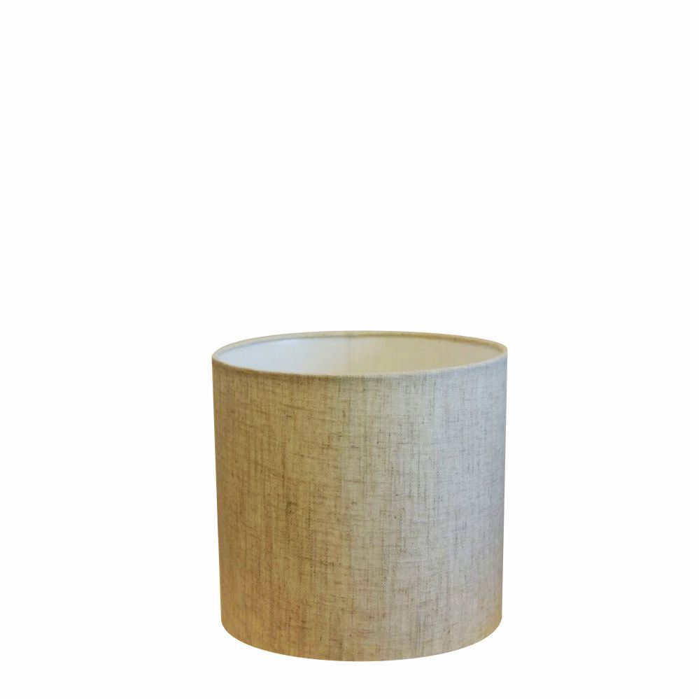 Cúpula em Tecido Cilindrica Abajur Luminária Cp-4046 18x18cm Rustico Bege