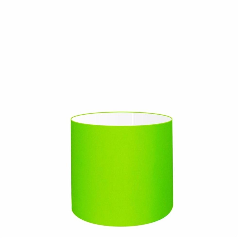 Cúpula em Tecido Cilindrica Abajur Luminária Cp-4046 18x18cm Verde Limão