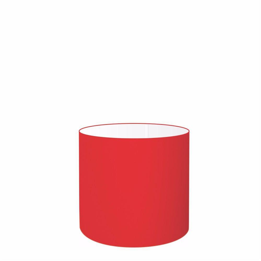 Cúpula em Tecido Cilindrica Abajur Luminária Cp-4046 18x18cm Vermelho