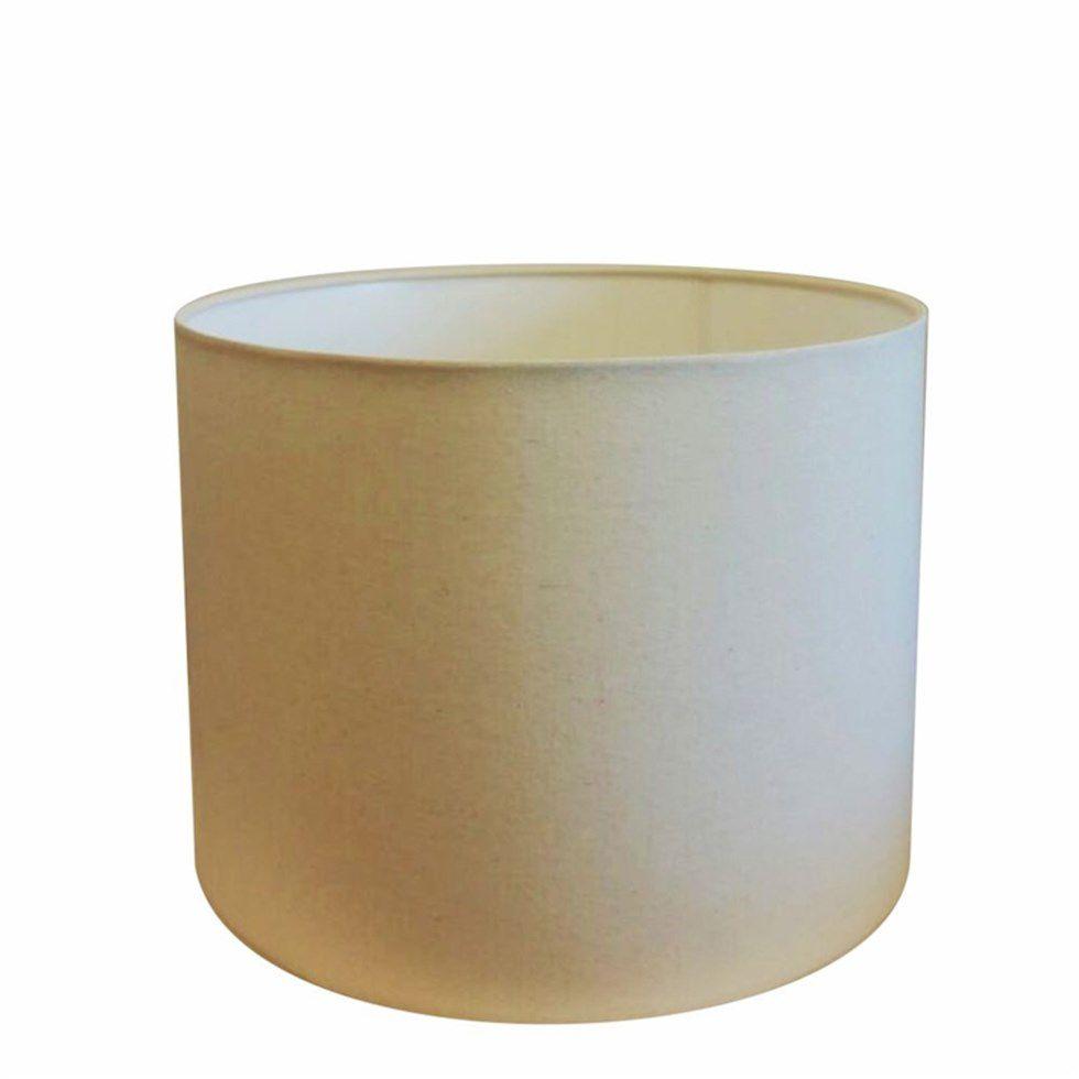 Cúpula em Tecido Cilíndrica Abajur Luminária Cp-4099 40x25cm Algodão Crú
