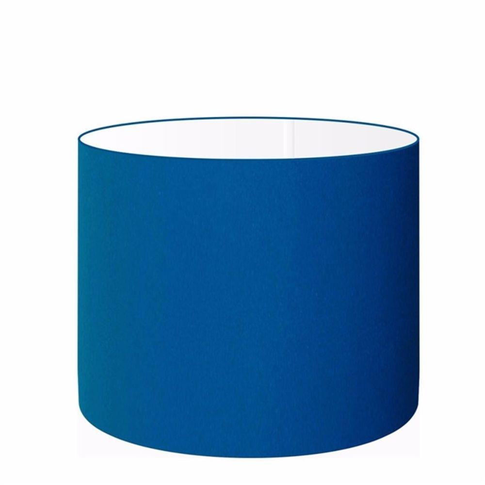 Cúpula em Tecido Cilindrica Abajur Luminária Cp-4099 40x25cm Azul Marinho