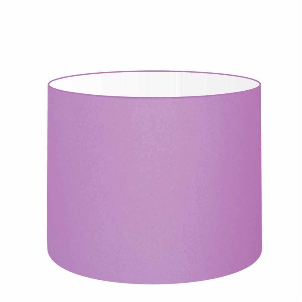 Cúpula em Tecido Cilindrica Abajur Luminária Cp-4099 40x25cm Lilás